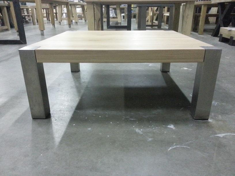 Eiken RVS salontafel 4   Eiken SALONTAFELS   Eiken tafels  u0026 eikenhouten eettafels