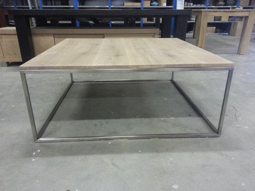 Eiken RVS salontafel 3 - Eiken TAFELS RVS - Eiken tafels u0026 eikenhouten ...