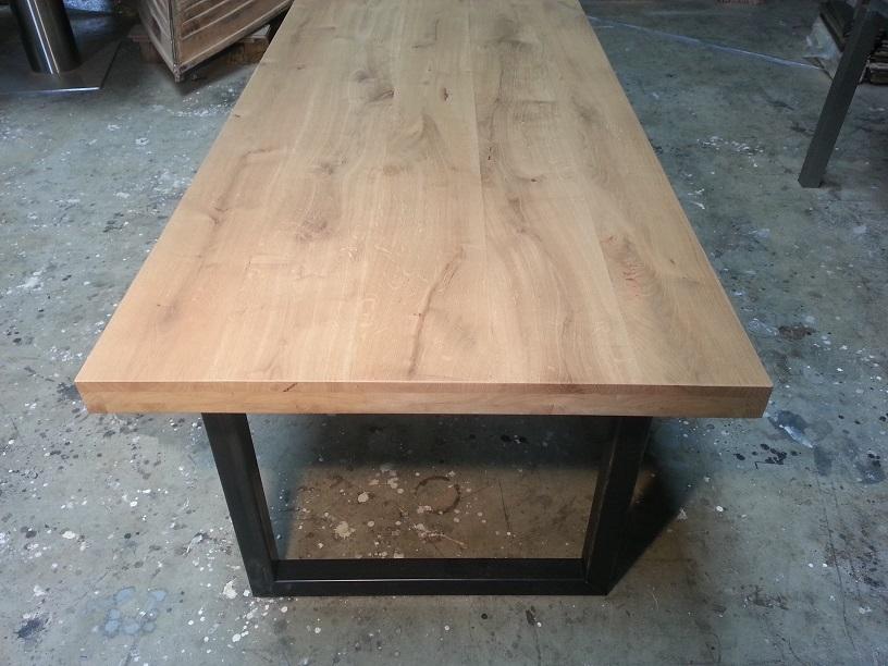 Licht Eiken Eettafel : Eiken tafels staal eiken tafels staal eiken tafels