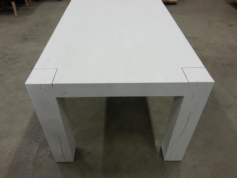 Wit Eiken Tafel : Tafel wit met hout finest tafels parma eetkamer tafel onderstel